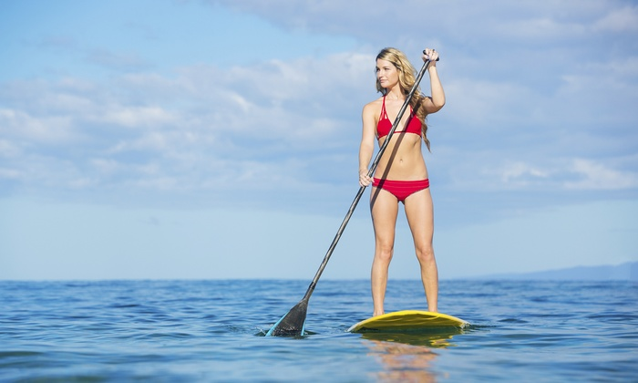 Black Oar SUP, Surf & Watersports - Plymouth - Wayzata: Standup-Paddleboard Rental with Optional Lesson at The Black Oar (Up to 51% Off). Three Options.