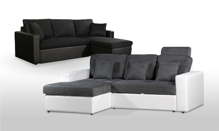 canap convertible et r versible groupon shopping. Black Bedroom Furniture Sets. Home Design Ideas