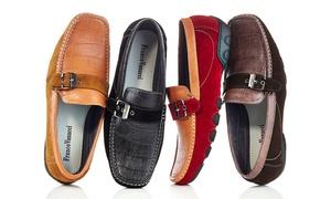 Franco Vanucci Men's Driver Shoes With Buckle Drive 125