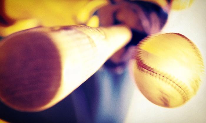 Baseball USA - Spring Shadows: Batting-Cage Tokens and use of Bat and Helmet at Baseball USA (Up to 57% Off). Two Options Available.