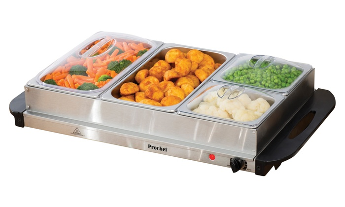 Prochef Four-Portion Electric Buffet Server