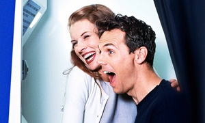 D4 Photobooths: Three, Four, or Five-Hour Photo-Booth Rental Package from D4 Photobooths (Up to 48%)