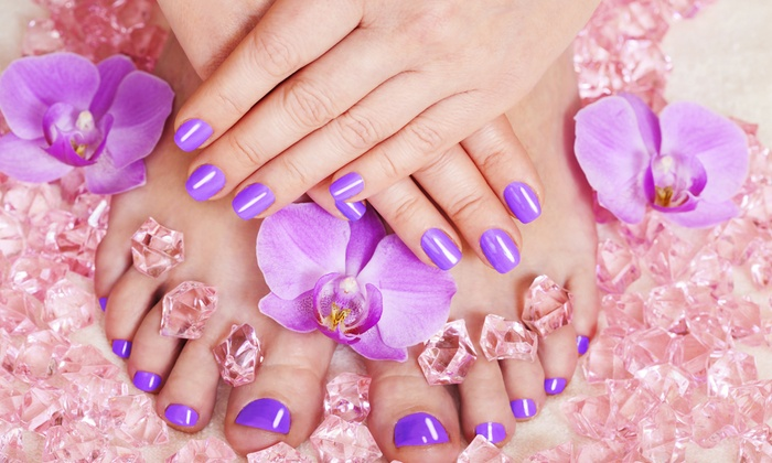 Natural Nails & Spa... - Grandville: A Spa Manicure and Pedicure from Natural Nails & Spa (49% Off)