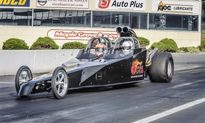 Pure Speed Drag Racing Experience: Dragster Ride-Along or Drive from Pure Speed Drag Racing Experience (Up to 31% Off). Four Options Available.