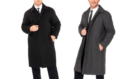 Alpine Swiss Men's Wool Knee-Length Overcoat