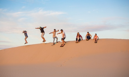 Sandboarding Experience with Transfer for One ($30), Two ($60) or Ten Ppl ($300) with 4WD Tours R Us (Up to $350 Value)