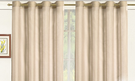 "Sheer Elegance 108""x84"" Window Panels with Grommets"