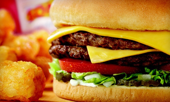 Sonic Drive-In - Multiple Locations: Combo Meal with Banana Split for Two or $5 for $10 Worth of Burgers, Hotdogs, Drinks, and Desserts at Sonic Drive-In