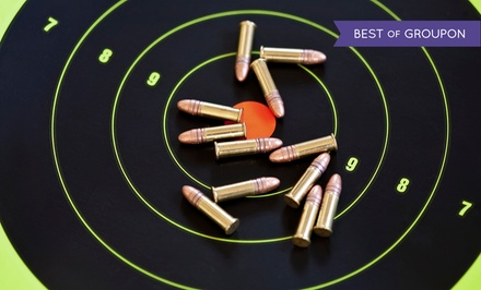Intro to Shooting Class for 1, 2, or 4 with Gun Rental, Ammo, and Range Fees at Bullet Trap, Inc. (Up to 72% Off)