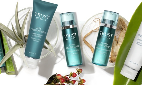 Natural Skin Care Products from Trust Beauty (Up to 42% Off). Three Options Available.