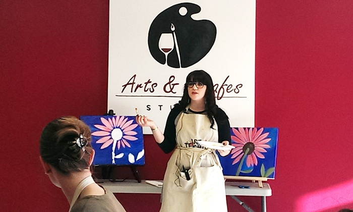 Arts & Carafes Studio - Forest Hills: $19 for a Social Painting Session from Arts & Carafes Studio ($35 Value)
