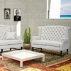 Sussex Linen Sofa-and-Loveseat Set
