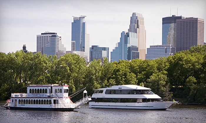 Paradise Charter Cruises and Minneapolis Queen - Multiple Locations: Dinner, Sightseeing, or Beer-Tasting Cruise for Two from Paradise Charter Cruises and Minneapolis Queen (Up to 51% Off)