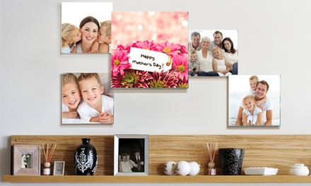 groupon daily deal - Three-, Five-, or Eight-Piece Custom Photo to Glass Collage from Pixtac.com (Up to 81% Off)