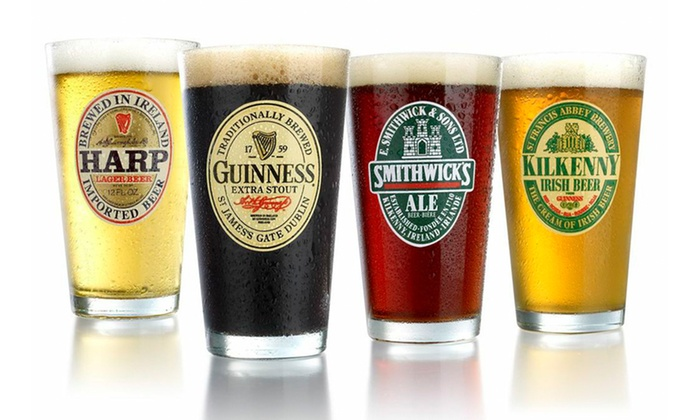 Two 4-Piece Sets of Luminarc Irish Pint Glasses: Two 4-Piece Sets of Luminarc 16 Fl. Oz. Irish Pub Glasses. Multiple Sets Available. Free Returns.