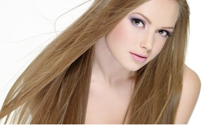 Salon Misty Hair Designer: Haircut Package with Options for Highlights or Coloring at Salon Misty Hair Designer (Up to 57% Off)