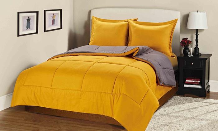3 Piece Reversible Comforter Sets Groupon