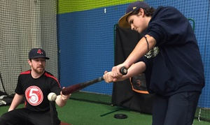 5 Tool Baseball: Professionally-Instructed Indoor Batting or Pitching Lessons at 5 Tool Baseball (Up to 54% Off)