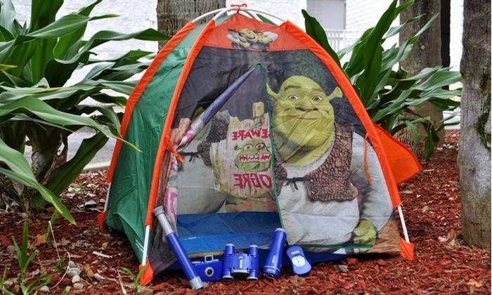 Kidsu0027 Outdoor Adventure Kit and Shrek Tent Kidsu0027 Outdoor Adventure Kit and Shrek ... & Kidsu0027 Adventure Kit u0026 Shrek Tent | Groupon Goods