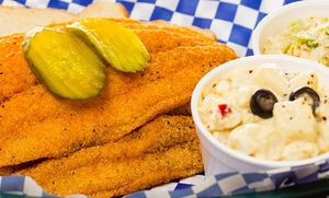 Big Shake's Hot Chicken & Fish: Fried Chicken, Fish, and Southern Food at Big Shake's Hot Chicken (Up to 42% Off). Two Options Available.