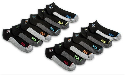 Fila Men's Moisture-Wicking Quarter Socks (12-Pack)