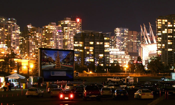 Fresh Air Cinema - River District Vancouver Drive-In: C$12 for a Christmas Drive-In Carload Movie Pass from FreshAirCinema (C$20 Value). Four Showings Available.