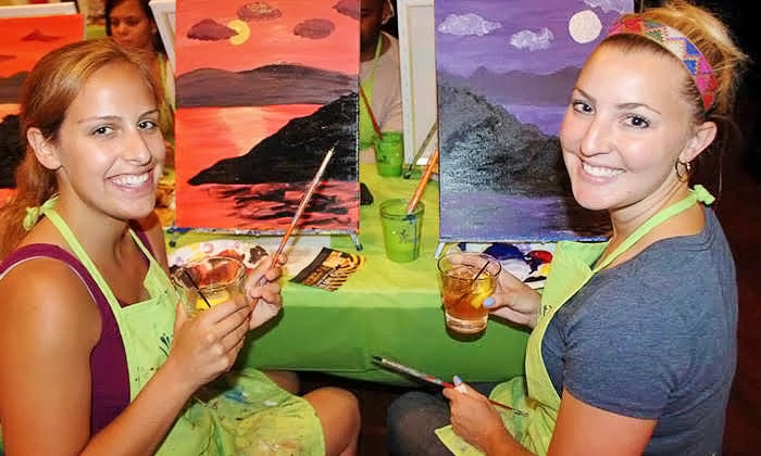 Heartwood & Oak and Paint Nite: Two Hour Social Painting Event Plus Premium Wine from Paint Nite and Heartwood & Oak (73% Off)