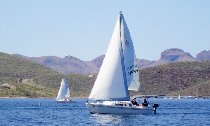 Arizona Sailing Adventures - Scorpion Bay Marina: $149 for a Three-Hour Boat Cruise for Up to Four with Fruit and Cheese at Arizona Sailing Adventures ($300 Value)