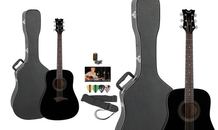 Dean Guitars Black Acoustic Guitar and Accessories: Dean Guitars Black Acoustic Guitar and Accessories. Free Returns.