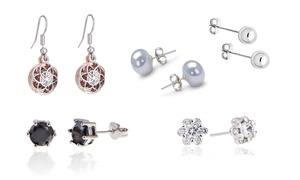 18ct White Gold-Plated Earrings