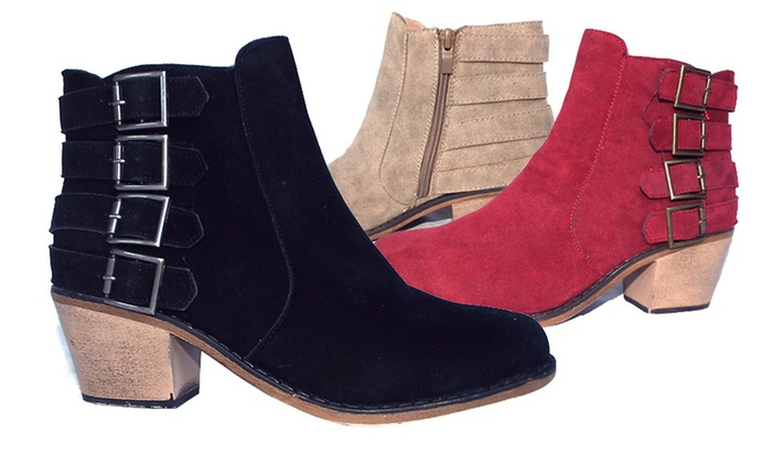 Electric Karma Cathy Ankle Boot: Electric Karma Cathy Ankle Boot in Black, Red, or Taupe. Free Returns.