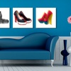 """$39.99 for a 12""""x12"""" OMG Shoes Canvas Print"""