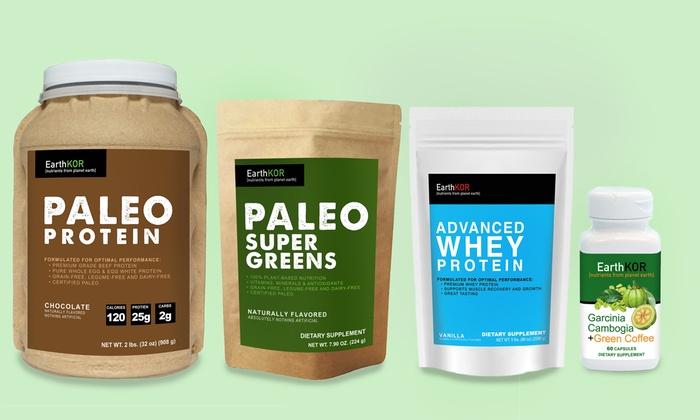 EarthKOR: Paleo Diet Kit or $35 for $60 Worth of Supplements from EarthKOR