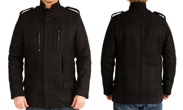 Elie Tahari Men's Plaid Wool Coat: $189 for an Elie Tahari Men's Plaid Wool Coat ($695 List Price). Free Shipping. Four Sizes Available.