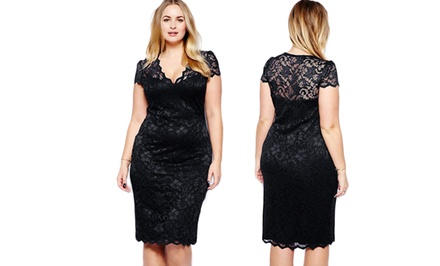 Jade & Juliet Women's Plus-Size Diana Cocktail Dresses