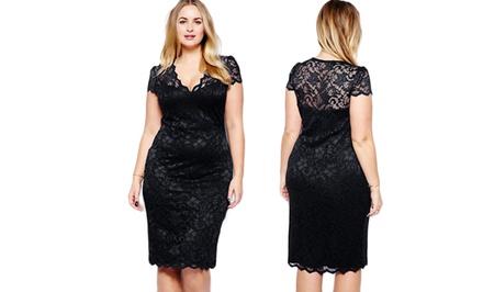 Jade & Juliet Women's Plus-Size Diana Cocktail Dresses