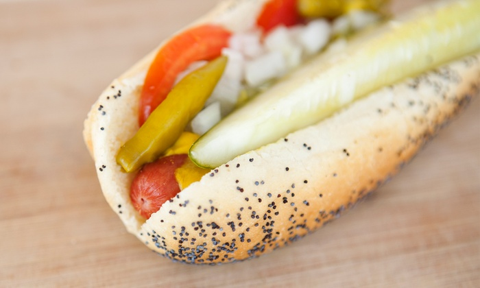Parker's Hot Dogs of Santa Cruz - Douglas Blvd.: $17.50 for Five Groupons, Each Good for $6 Worth of Hot Dogs and Fries at Parker's Hot Dogs of Santa Cruz ($30 Value)