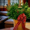 Holiday Evergreen Centerpieces