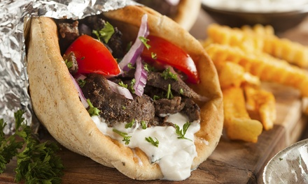 $16 for a Greek Meal for Two at Think Greek Grill & Yogurt Bar (Up to $28 Value)