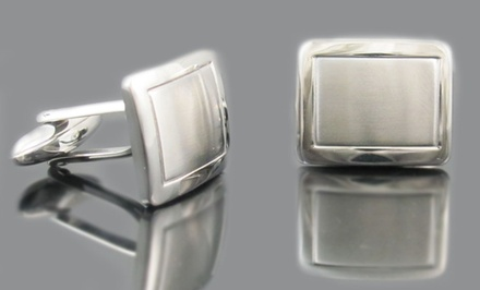 Stainless Steel Men's Cufflinks, Money Clips, or Tie Clips. Multiple Styles Available.