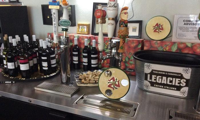 Legacies Cucina Italiana - Terrace Park: Up to 57% Off Wine tasting at Legacies Cucina Italiana