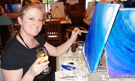 Two-Hour Social Painting Event for One, Two, or Four at Vino van Gogh (Up to 47% Off)