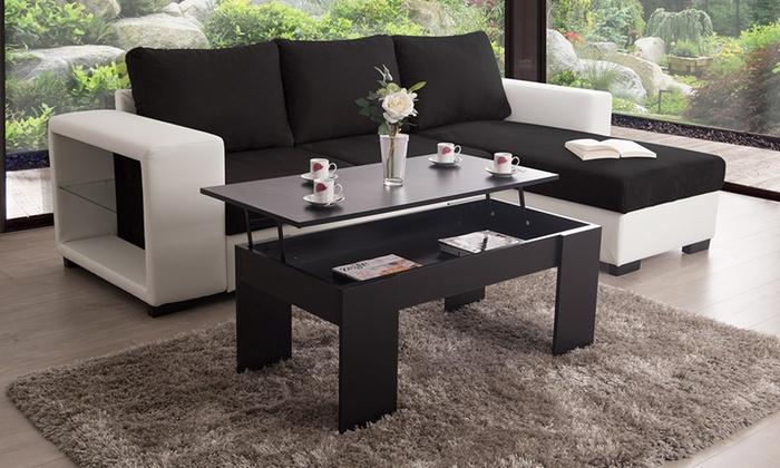 table basse relevable groupon. Black Bedroom Furniture Sets. Home Design Ideas