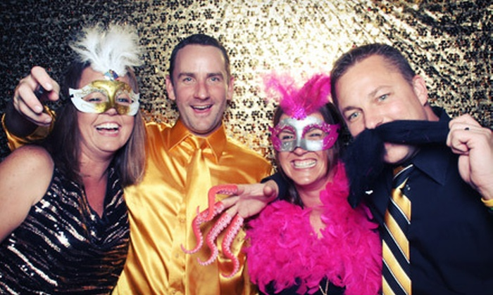 The Flasher Photobooth - Camelback East: Two- or Four-Hour Photo-Booth Rental from The Flasher Photobooth (Up to 64% Off)