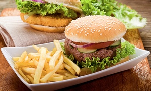 White Rhino Bar & Grill: Grill Cuisine at White Rhino Bar & Grill (Up to 40% Off). Two Options Available.
