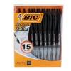 Bic Atlantis Retractable Ball Point Pens (15-Pack)