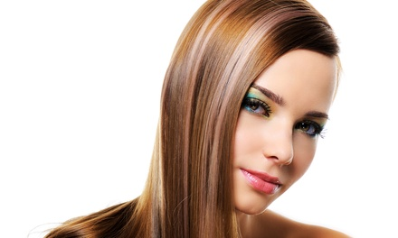 Haircut Packages with Option for Partial or Full Highlights or Full Color at Ruby James Salon (Up to 65% Off)