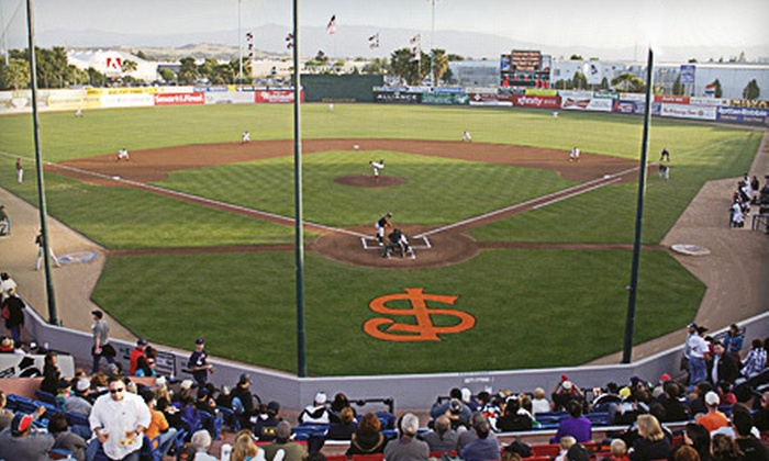 San Jose Giants - Central San Jose: $40 for 10 Tickets and One Pass for Family of Four to San Jose Giants Games at Municipal Stadium ($80 Value)