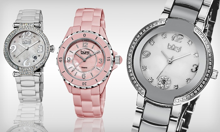 Burgi Women's Ceramic Watches: Burgi Women's Ceramic Watches (Up to 90% Off). 11 Options Available. Free Shipping and Free Returns.