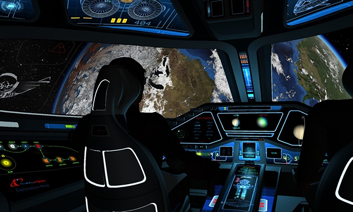 "SimCenter Tampa Bay - Clearwater: $40 for a 30-Minute ""Explore Space"" Outer-Space Simulator Session at SimCenter Tampa Bay ($75 Value)"